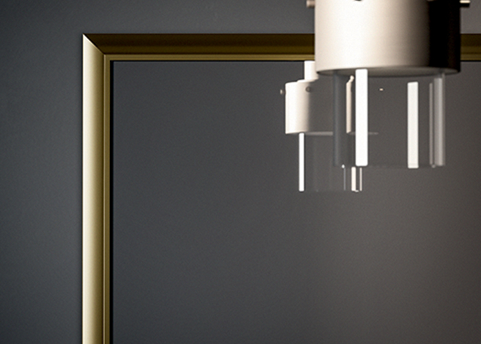 specchio con lampada