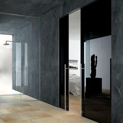 porta vetro laccato nero